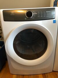white and black LG front-load clothes washer Elizabeth, 07208
