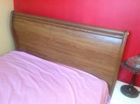 Real wood queen size bed