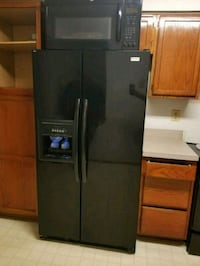 black side-by-side refrigerator with dispenser Rockville, 20850