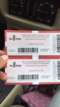 two six flags tickets unlimited Chattanooga, 37409