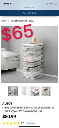 IKEA drawer clothes storage Toronto, M5V 1X2