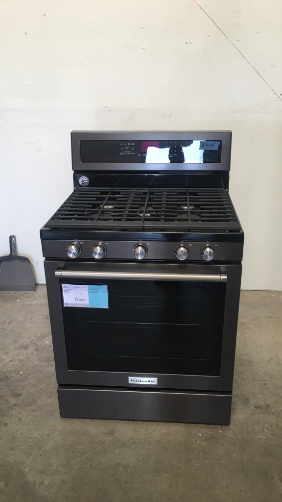 Used Black And Gray Gas Range Oven KitchenAid For Sale In Concord   Letgo