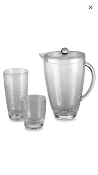 Acrylic pitcher and 8 glasses set. Brand new, never used.