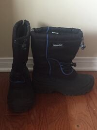 pair of black leather boots Mississauga, L5V