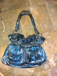 Blue metallic purse