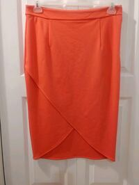 NEW NWT Size 8 Coral Pink Banana Republic Midi Skirt With Front Slit  Vaughan, L4K