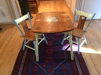 Antique solid cherry wood children's table and 2 chairs Mc Lean, 22101