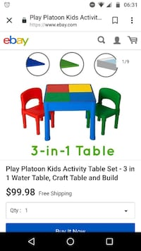 Brand new kids table and chairs Falls Church, 22044