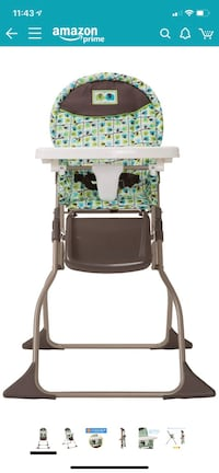Cosco Simple Fold High Chair with 3-position Tray - Brand New