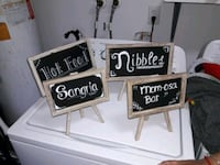 Four black and white chalkboards with decorations  Fort Lauderdale, 33309