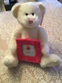 New Russ stuffed bear with picture frame Toronto, M1W 3K7