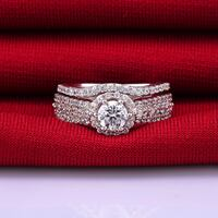 NEW 1.5ct Brilliant AAA CZ Wedding Sets