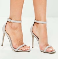 Grey Rounded Four Strap Heels Vaughan, L6A 0B4