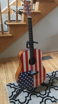 American flag guitar with stand Mokena, 60448