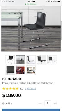 bernhard ikea chair black Mississauga, L4Z 3S7