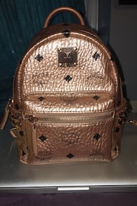 MCM Stark Mini Studded Metallic Visetos Backpack Boston, 02119