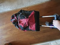Rolling luggage-duffle- red Dallas, 75287
