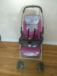 baby's pink and gray stroller Maywood, 07607