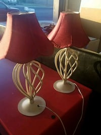 two red and white table lamps Las Vegas, 89108