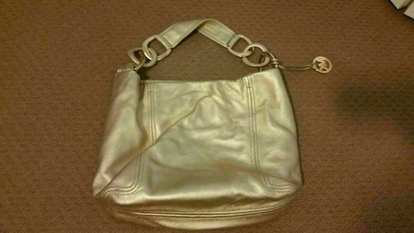 4b02a3e47a43d3 Used Michael kors gold hobo purse for sale in Guelph - letgo