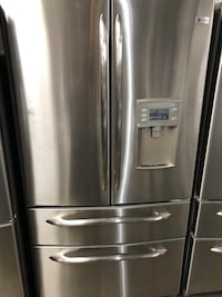 """GE Profile 4-Door Stainless Steel Fridge 36"""" Inch Wide And Counter Depth. Height is 68.5"""" Inch. In Clean and Good Working Condition. 2 1/2 Years Old. Has Water Maker on Door and Ice Maker Inside Haledon, 07508"""