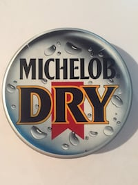 Michelob Dry Bottle Cap Bar Sign