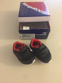 Size 1 Baby Shoes Newborn New with box Black and red Casselberry, 32707