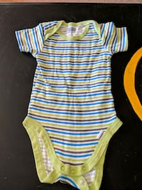 baby's white and yellow stripe onesie size 3 mos Edmonton, T6E 0L9