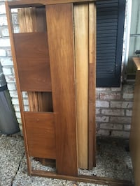 brown wooden cabinet with mirror HOUSTON
