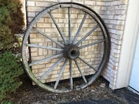 $95 antique wagon wheel-iron rimmed wood