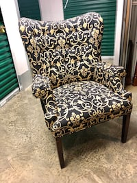 Black and Cream Accent Chairs  McLean