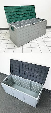 """New $45 each Plastic Storage Box 70 Gallon Outdoor Durable Plastic Shed Waterproof 44""""x19""""x21"""""""
