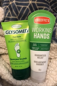 Foot balm and hand cream glysomed and o'keffes