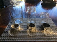 Improved Gem Jars with Glass Lids & Zinc Rings (Lot's) Calgary, T3H