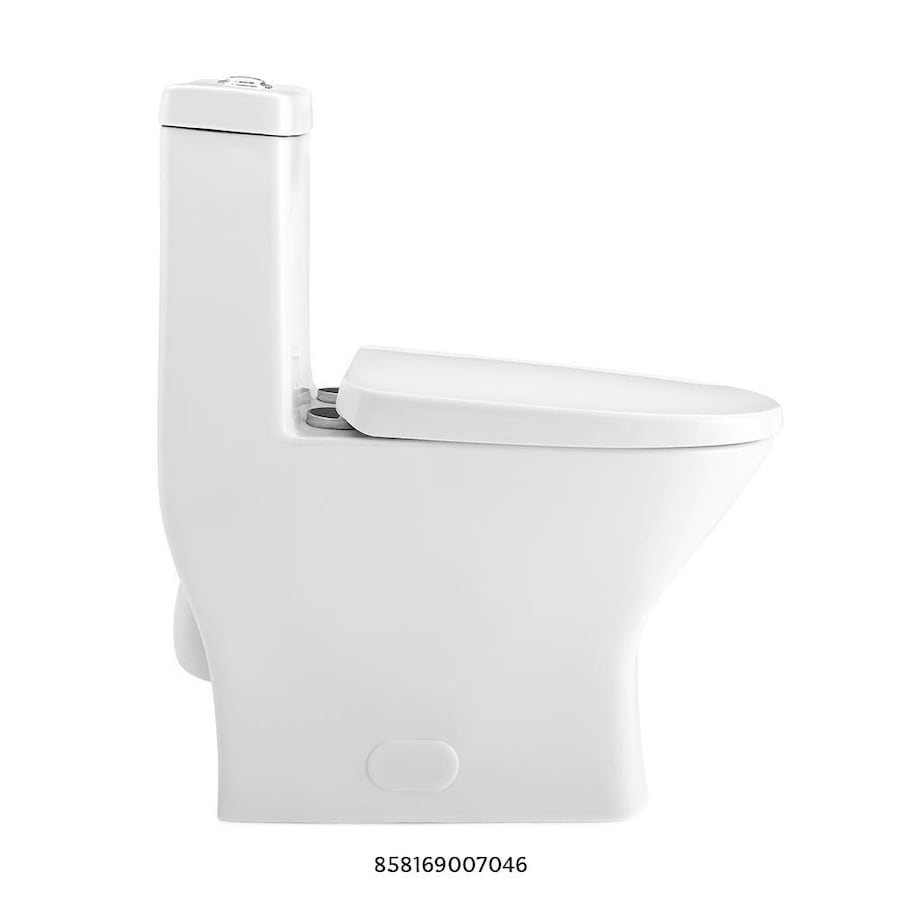 Swiss Madison Sublime 2-piece 0.8 GPF Dual Flush Round Toilet in Glossy White Seat Included 10093206-0ed9-4dd8-8e9d-b9679fa98ca7