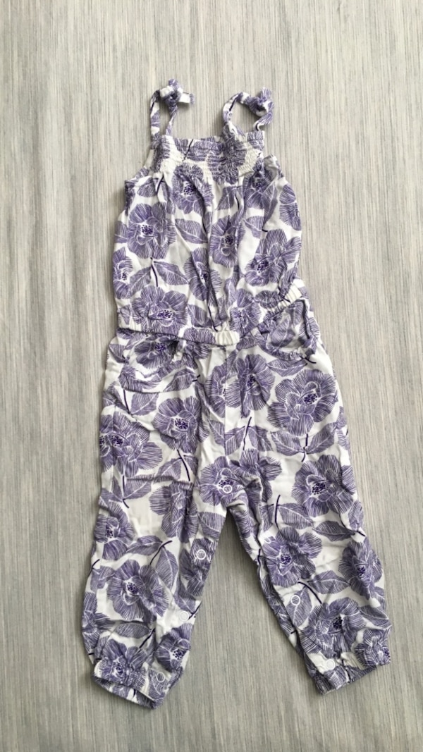 576de393303 Used White and purple jumpsuit from crazy 8 size 18-24 month for sale in  Montclair - letgo