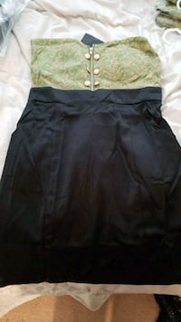New with tags size large green and black dress Manassas, 20111