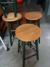 Vintage Painted Wood Stools Schomberg, L0G 1T0