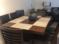 brown wooden dining table set Arlington, 22204