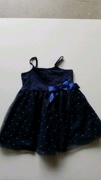 Girls 12 month navy dress