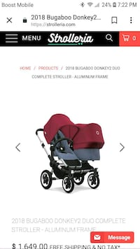 baby's red and black travel system screenshot Waldorf, 20603