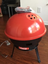 Red and black charcoal grill Sunrise, 33325