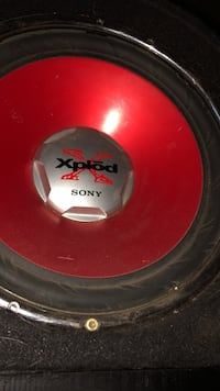 round red and black Sony Xplod subwoofer Middleville, 13416