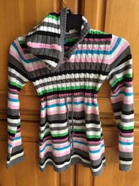 white, red, and green striped cardigan Irvine, 92602