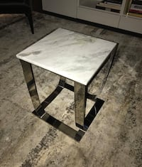 Marble side table with metal base Chicago, 60607