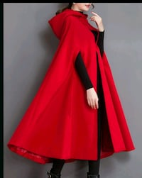 Red cape wool blend jacket brand new paid 60$ Edmonton