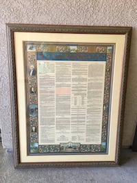 CONSTITUTION OF THE UNITED STATES - FRAMED Long Beach, 90804