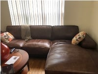 soft brown leather sectional  Fort Meade