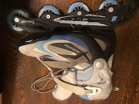 Size 9 ladies rollerblades, used once, excellent condition.