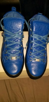 pair of blue leather high top sneakers Camp Springs, 20746